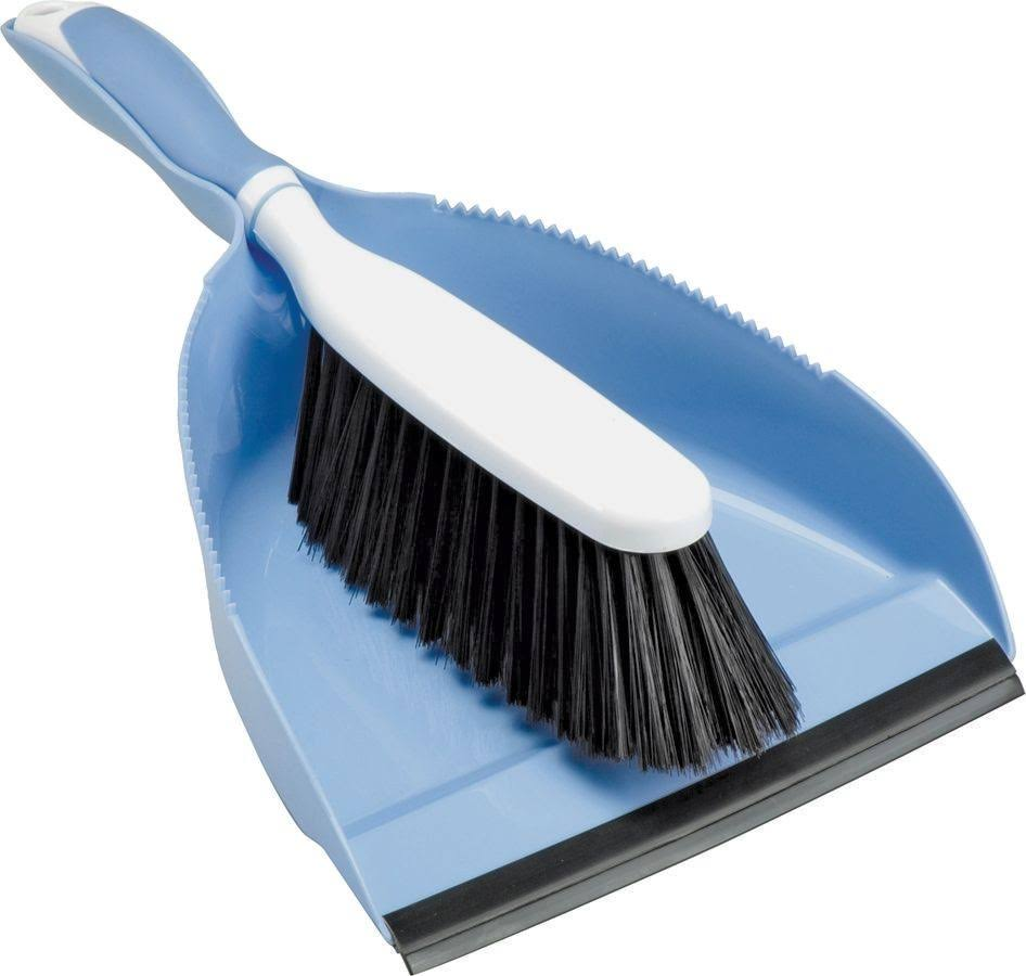 Home Basix Hand Broom With Dust Pan