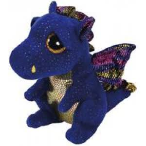 Ty Saffire Medium Blue Dragon Beanie Boos