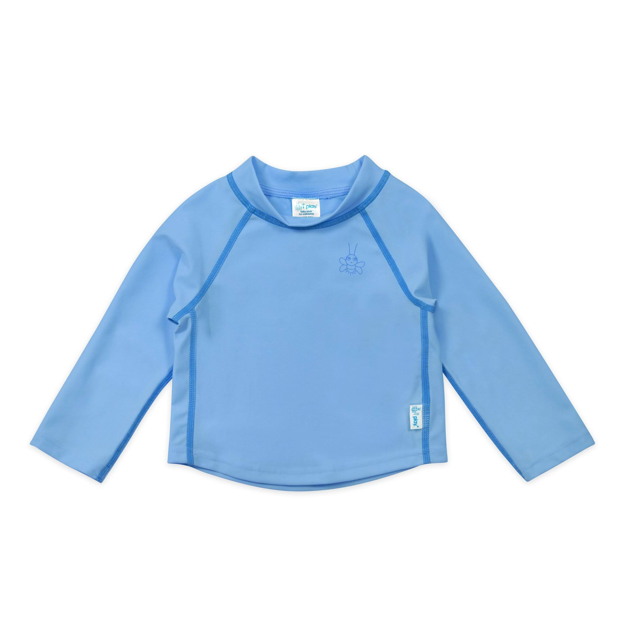 I Play - Long Sleeve Rashguard - 4T - Light Blue