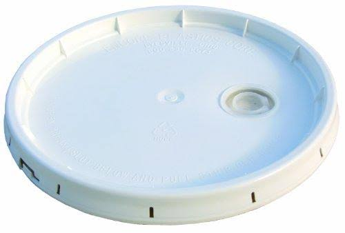 Encore Industries Pail Lid With Plug - White