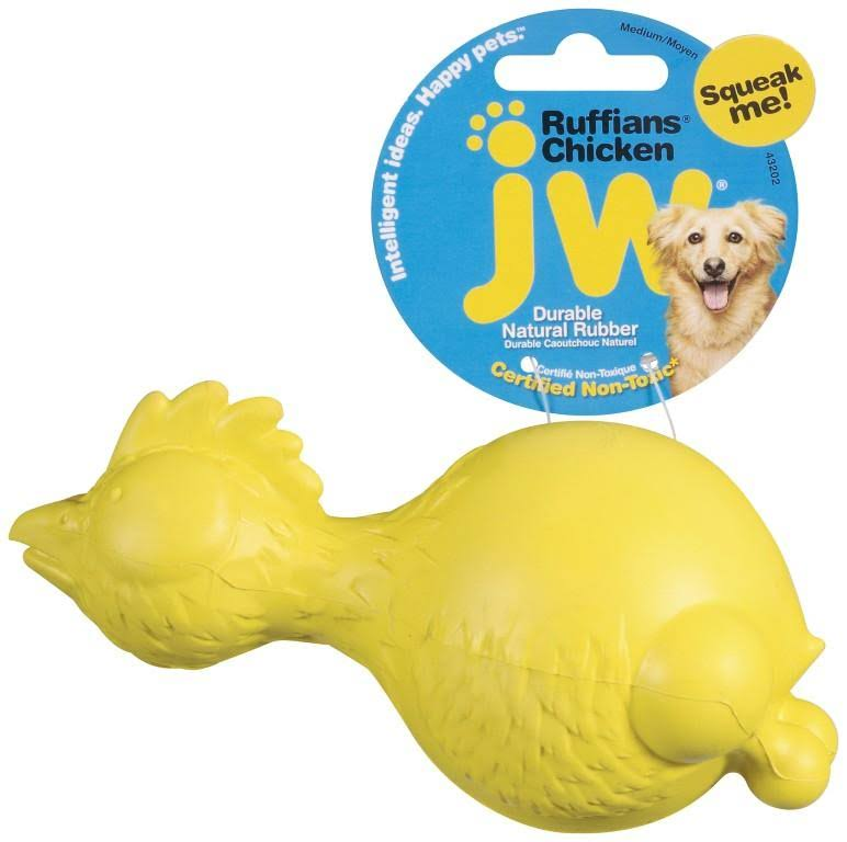 JW Pet Company iSqueak Bouncin' Bowlin Pin Dog Toy - Large, Colors Vary