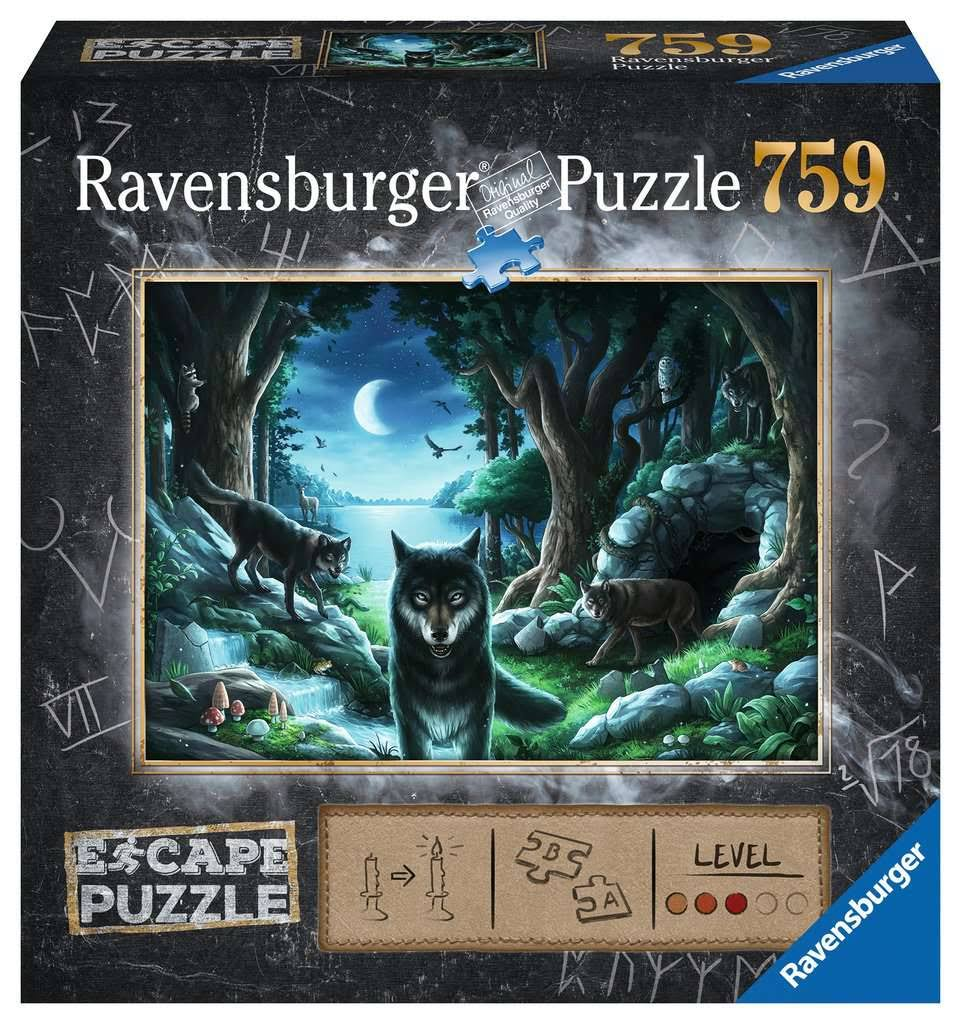 Ravensburger Adult Jigsaw Puzzle The Curse of The Wolves 759 Piece, Age 12 +