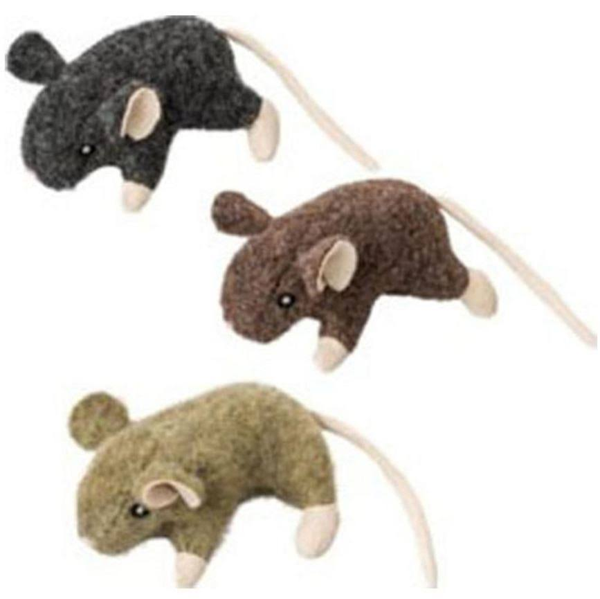 Ethical Assorted Wool Mouse W/catnip Cat Toy 3.5in
