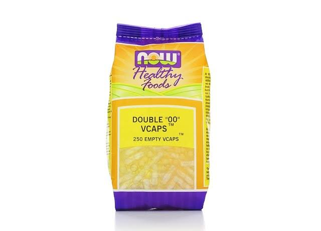 Now Foods Double OO Vcaps - 250 Empty Vcaps