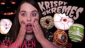 Krispy Kreme Halloween Donuts Calories by Krispy Skremes Eating Halloween Doughnuts Youtube