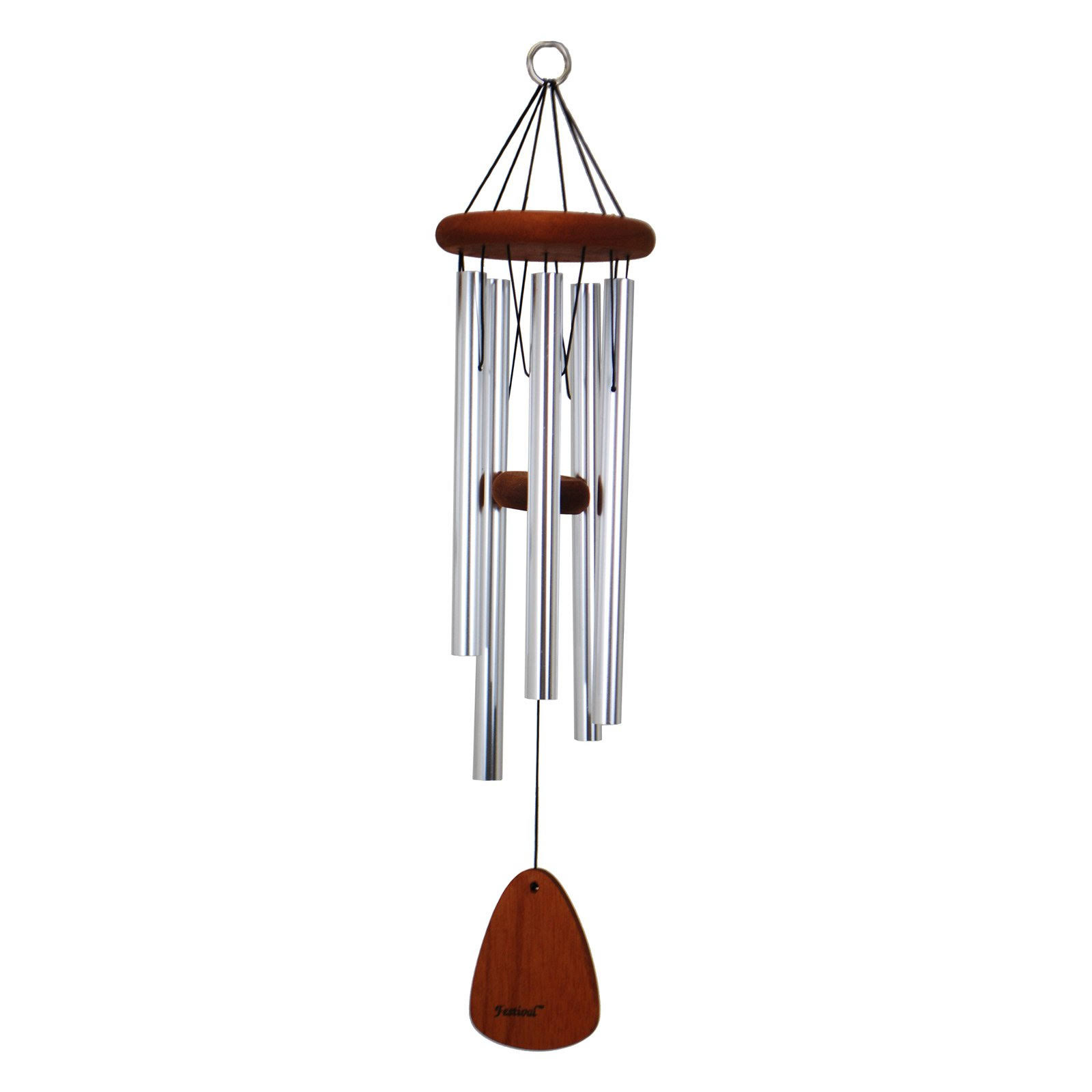 Festival 28 in. Wind Chime, Silver