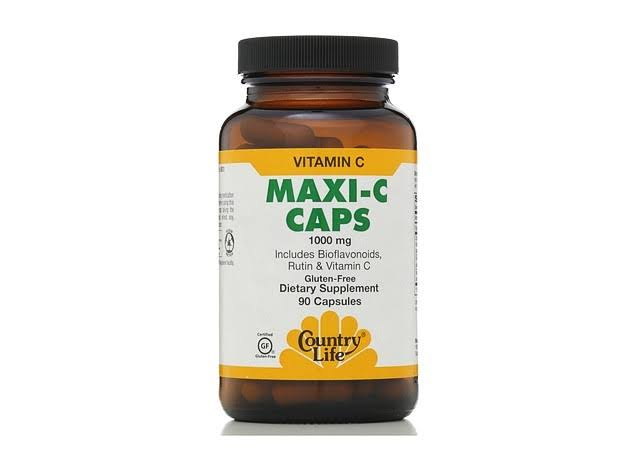 Country Life Maxi C Caps 1000mg with Rutin and Bioflavonoids - 90 count