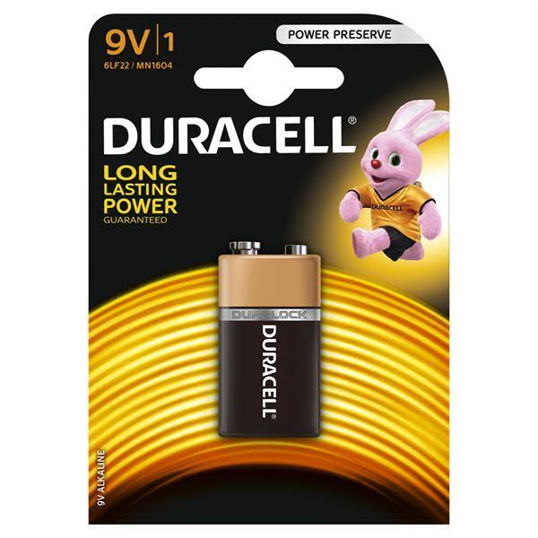 Duracell Alkaline Battery - 9V