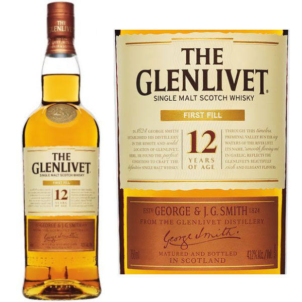 The Glenlivet 12 Year First Fill Single Malt Scotch 750ml