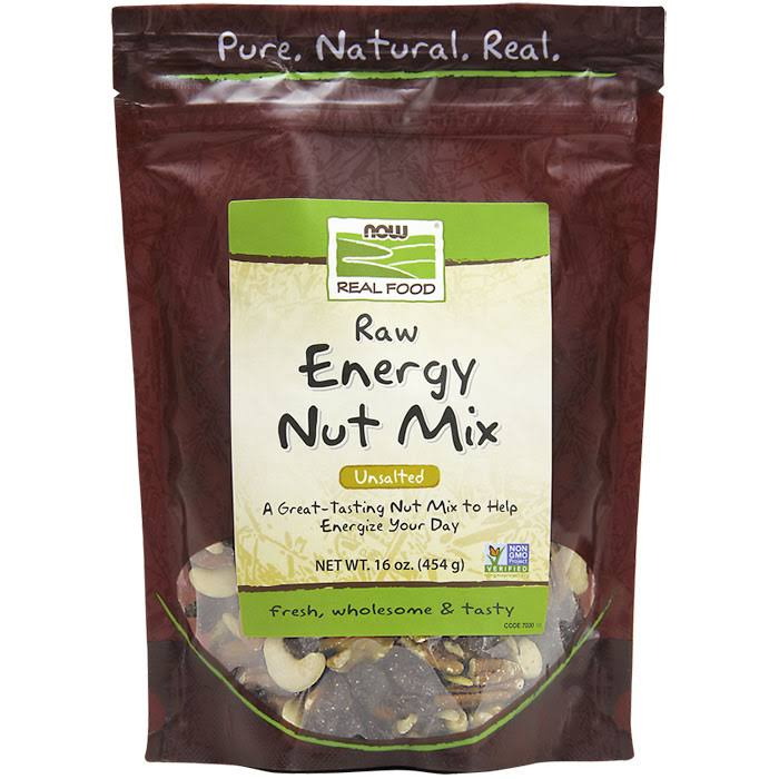 Now Foods Real Food Raw Energy Nut Mix - Unsalted, 454g