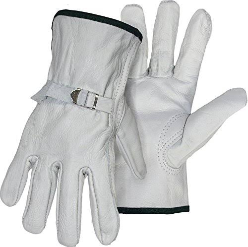 Boss Grain Leather Buckle Gloves - X-Large