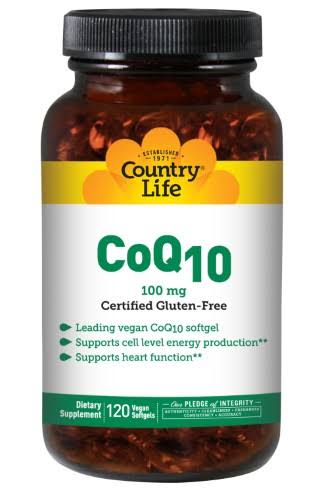 Country Life Coenzyme Q10 - 120 Vegetarian Softgels , 100mg