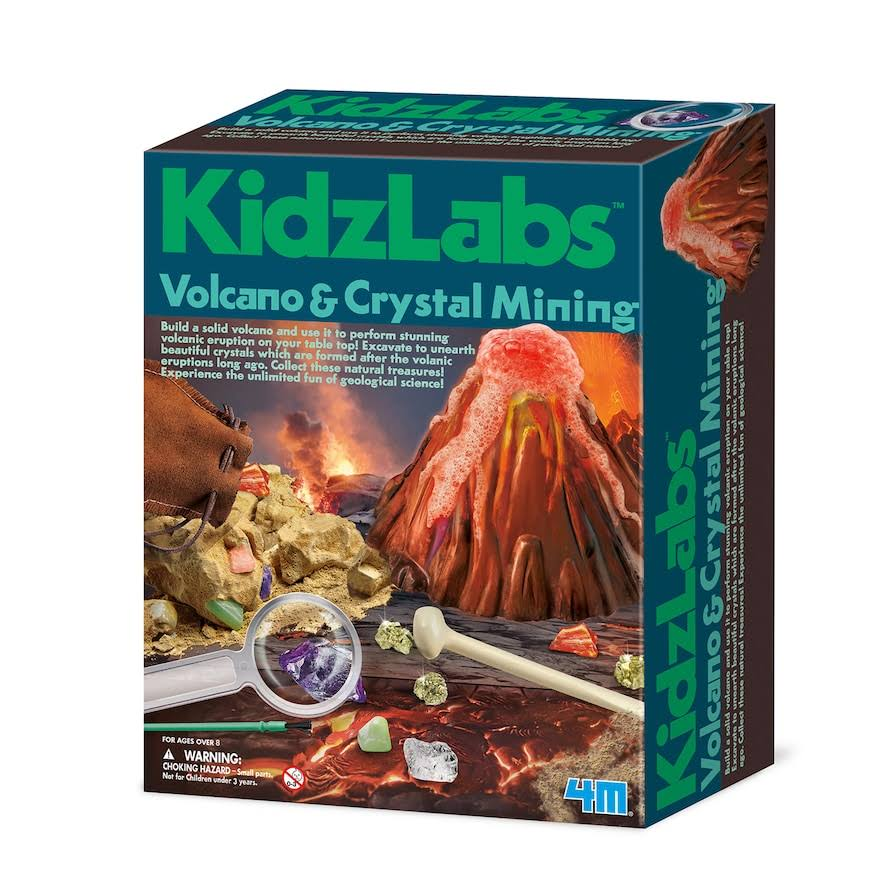 4M Volcano & Crystal Mining Science Kit