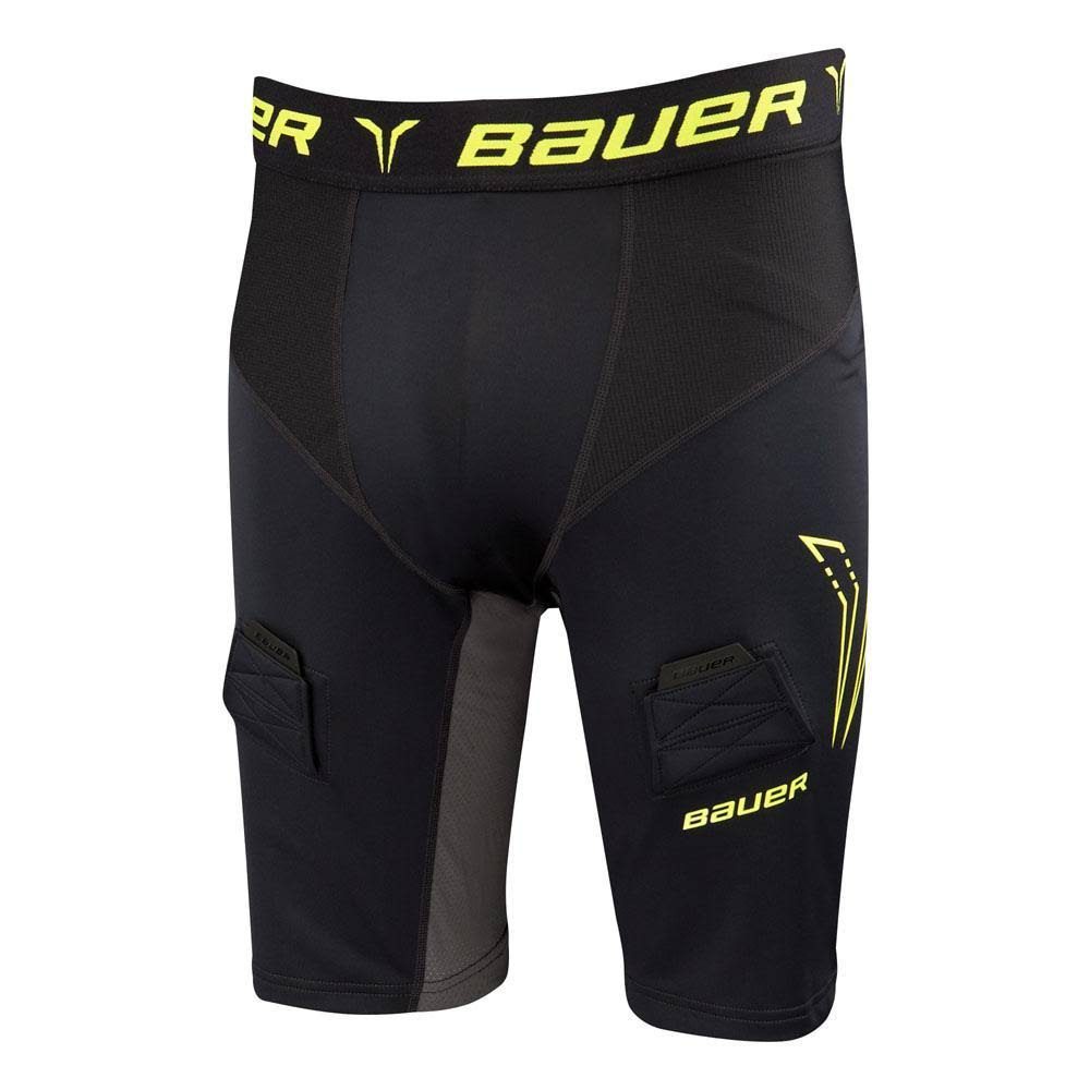 Bauer Premium Compression Youth Jock Short w/Cup, Small, Black