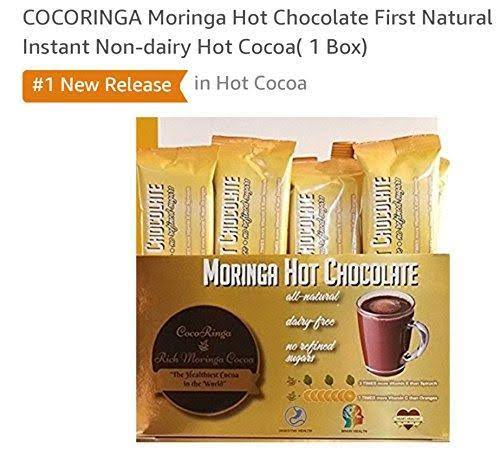 Cocoringa Moringa First Natural Instant Non Dairy Hot Chocolate