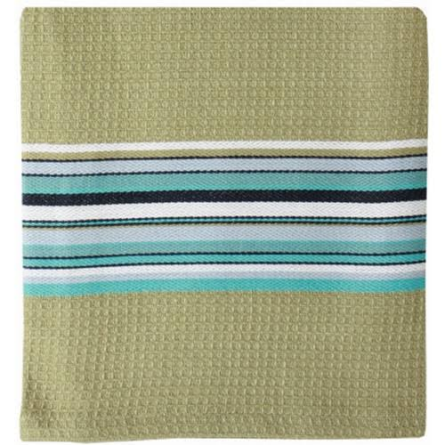 "MuKitchen Waffle Stripe Cotton Cloth Set - Toasted Almond, 12"" x 12"", 2pc"