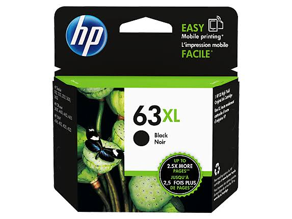 HP 63xl Ink Cartridge - Black, High Yield