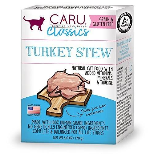 Caru Classics NAatural Cat Food - Turkey Stew, 6oz