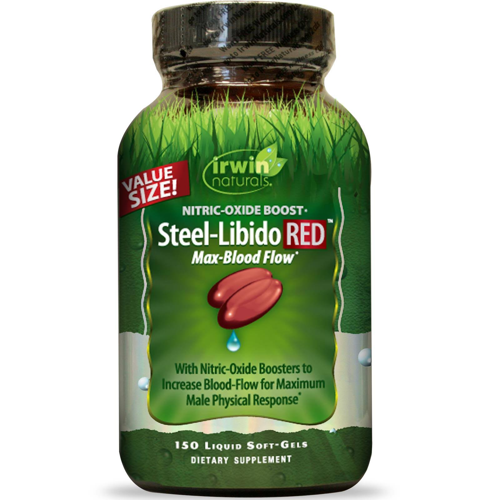 Irwin Naturals Steel-Libido Red Dietary Supplement - 150 Softgels