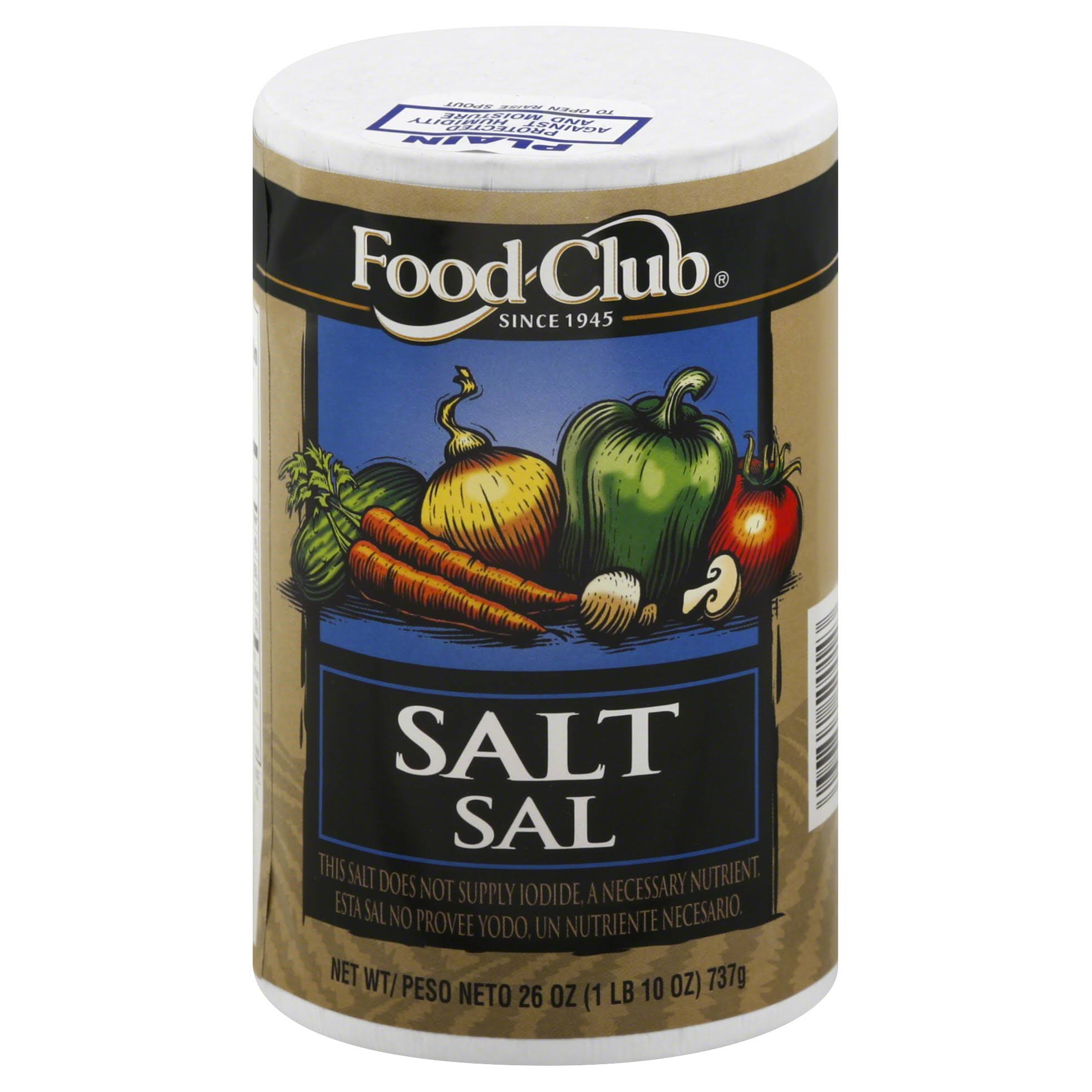 Food Club Salt - 26oz