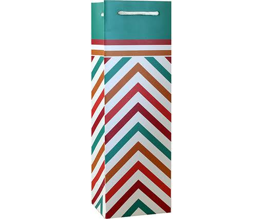 Bella Vita P1 MultiChevron - Printed Paper Bottle Bags