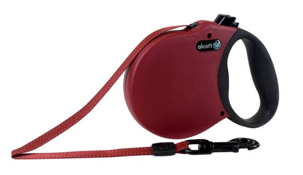 Alcott Essentials Retractable Adventure Dog Leash - Medium, Red