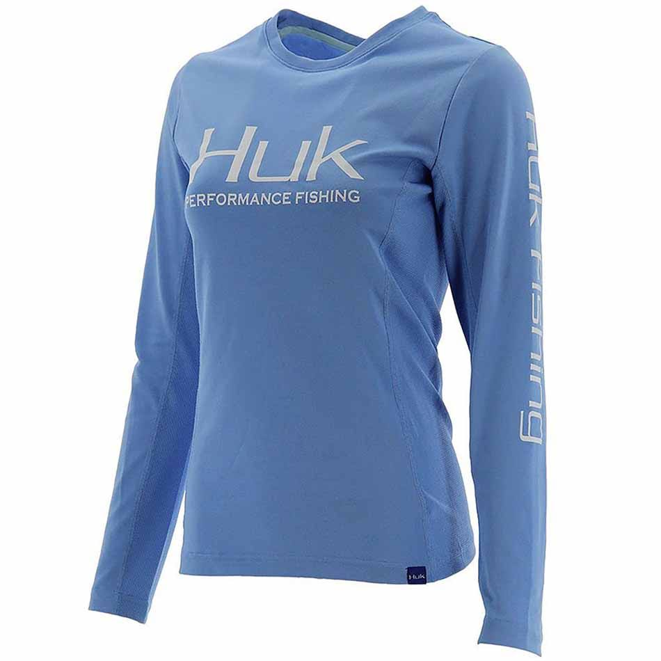 Huk Ladies Icon x Long Sleeve Shirt Carolina Blue / XL