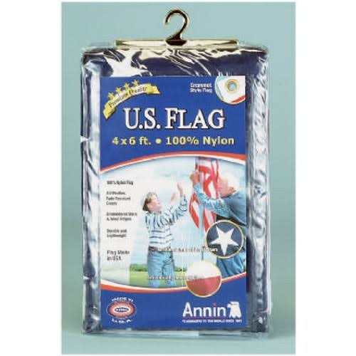 Annin Flagmakers Nylon Replacement U.S. Flag - 4ft x 6ft, 3pcs