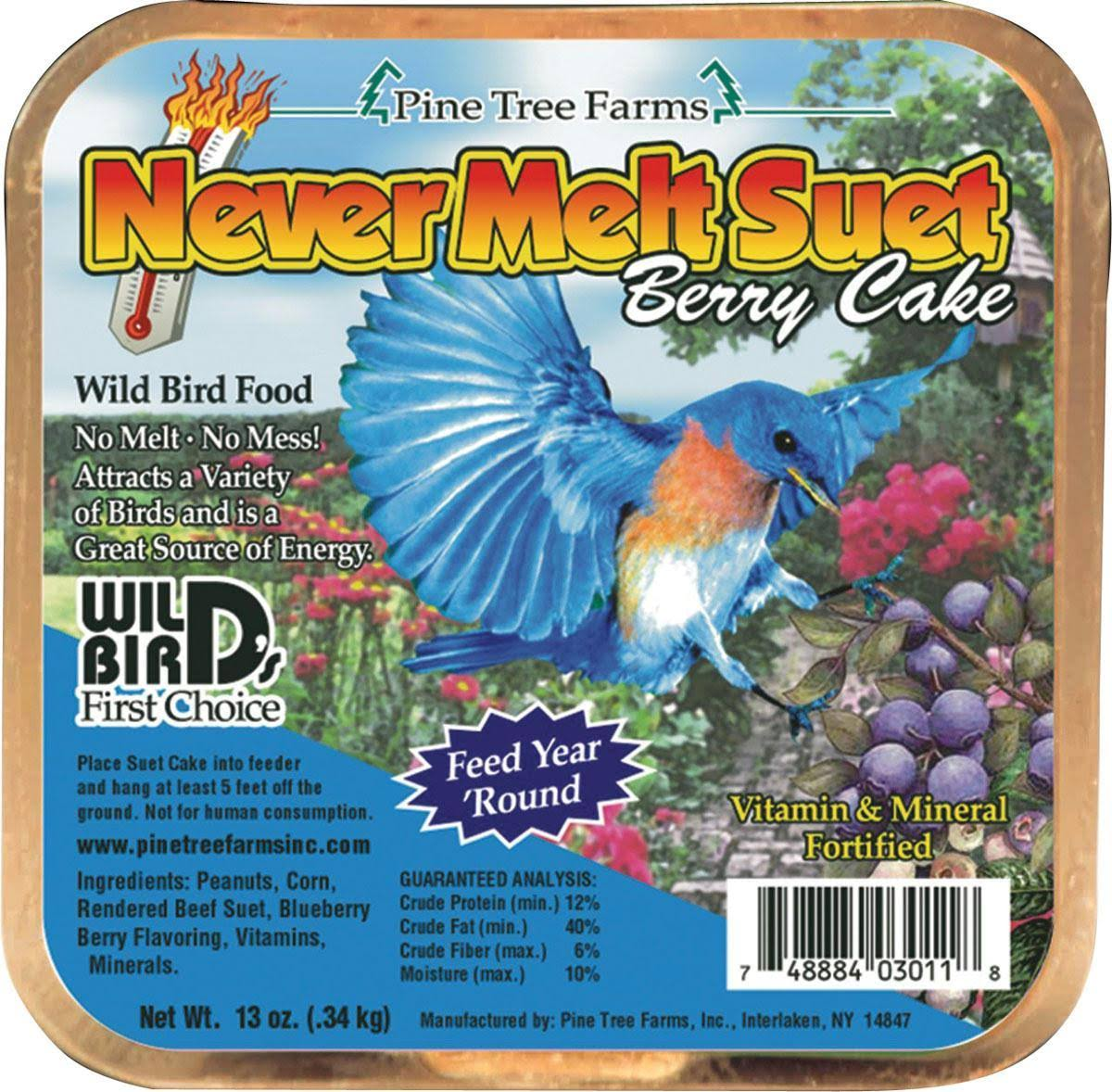 Pine Tree Farms Never Melt Suet Berry Cake - 12oz