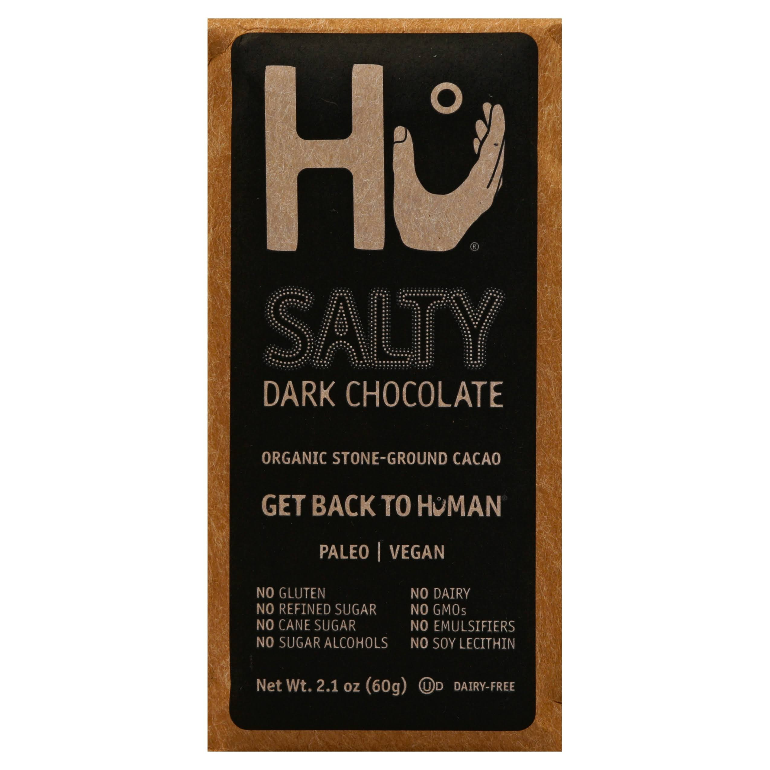 Hu Dark Chocolate, Salty - 2.1 oz