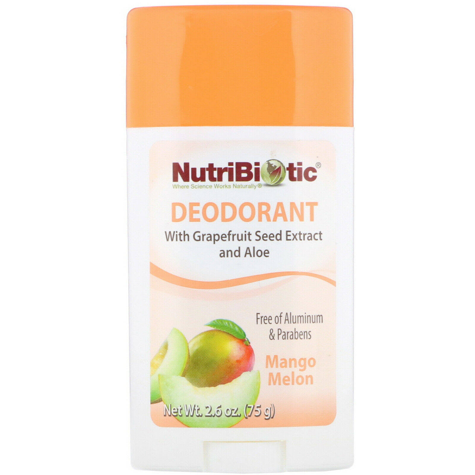 Nutribiotic Deodorant - Mango Melon, 2.6oz