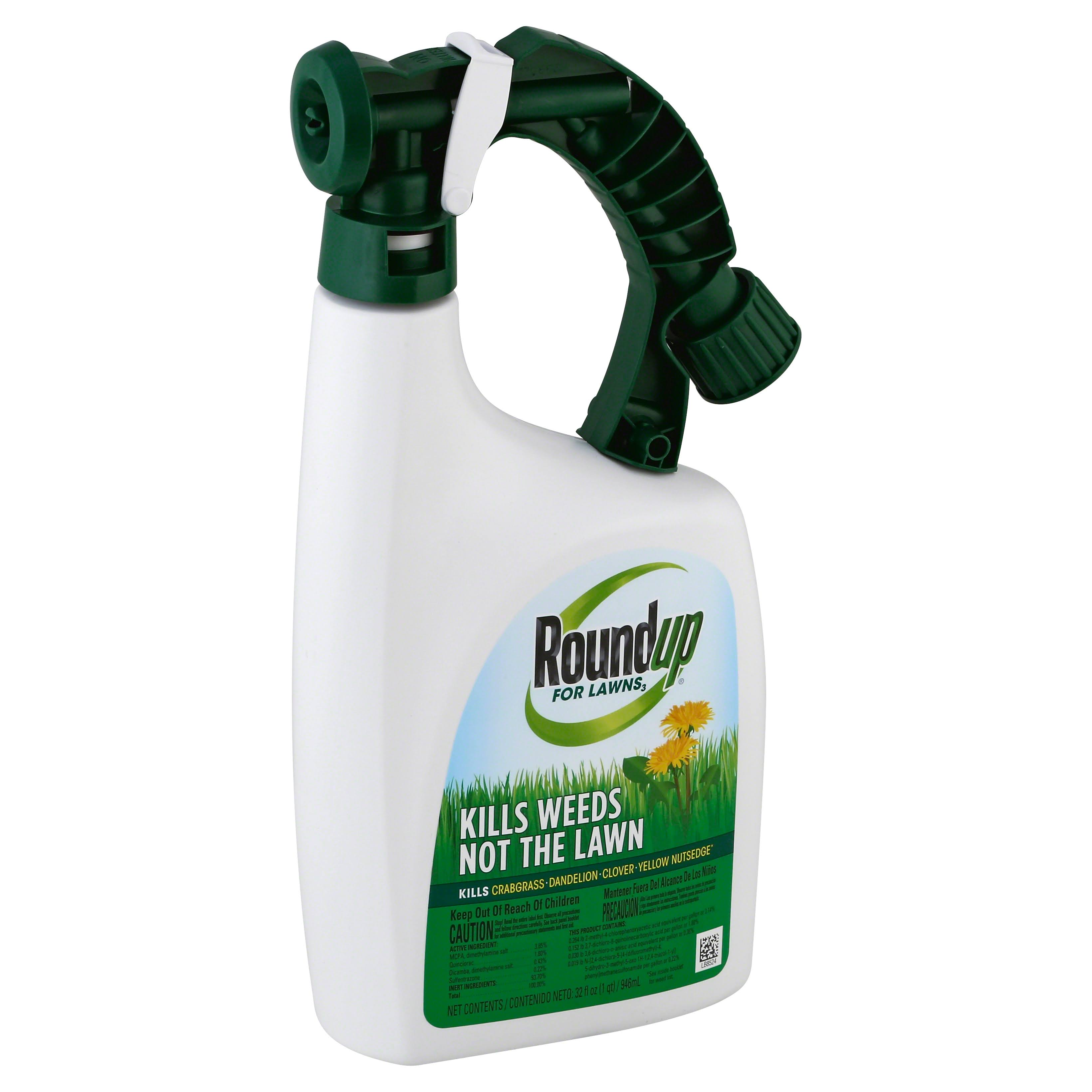 Round Up Selective Lawn Weed Killer Spray - 32oz