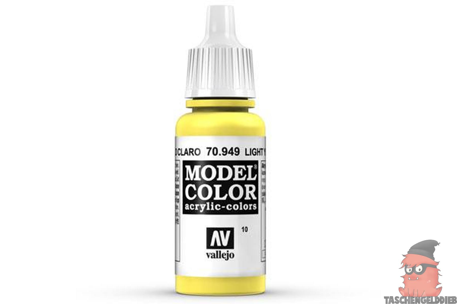 Vallejo Model Color Acrylic Paint - Light Yellow, 17ml