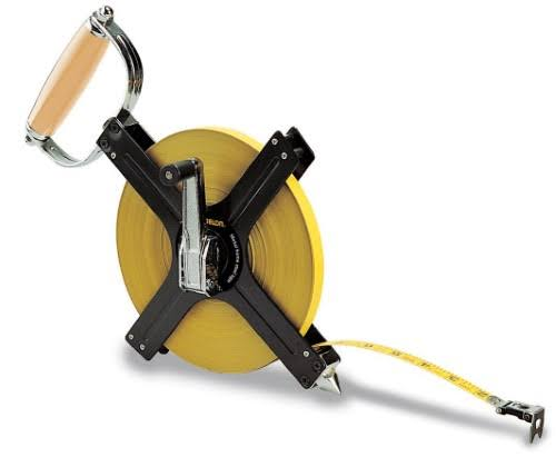 Komelon N6300 Open Reel Metal Frame Long Steel Tape Measure - 300'