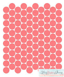 Coral Colored Decorative Items by Coral Color Circle Dot Shaped Wall Decals Peel And Stick 100