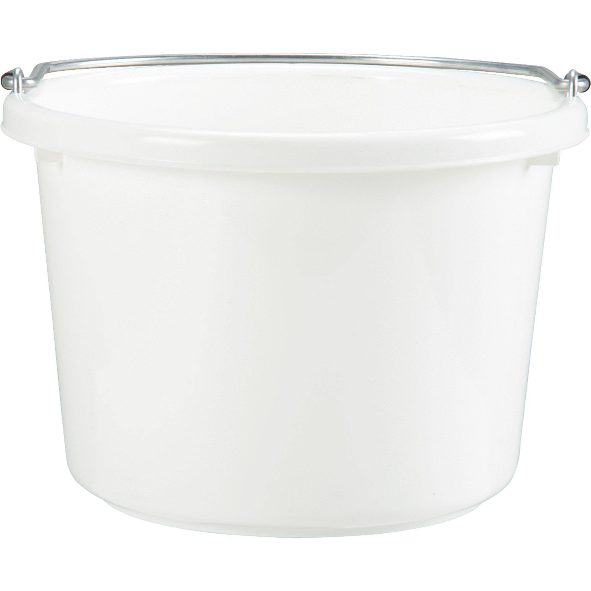 Miller Mfg. 8 Quart White Poly Bucket P8WHITE6