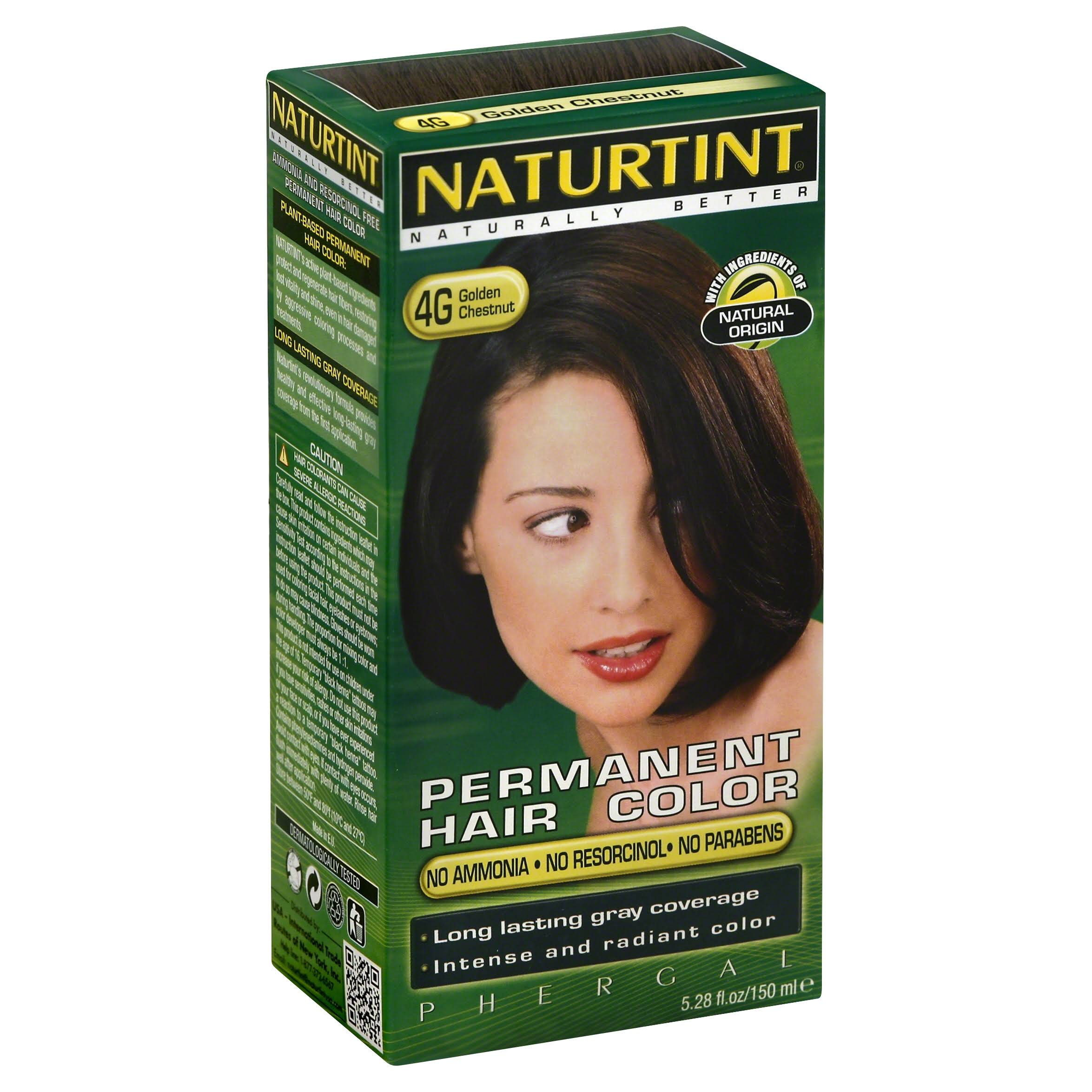 Naturtint Permanent Hair Colour - 4G Golden Chestnut, 150ml