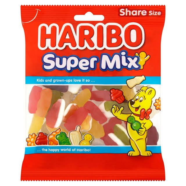 Haribo Super Gummy Candy Mix - 140g