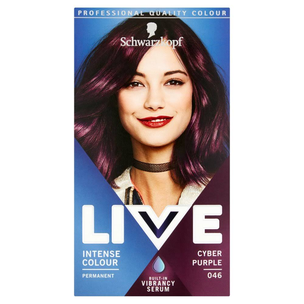 Schwarzkopf Live Intense Colour Permanent Hair Dye - 046 Cyber Purple