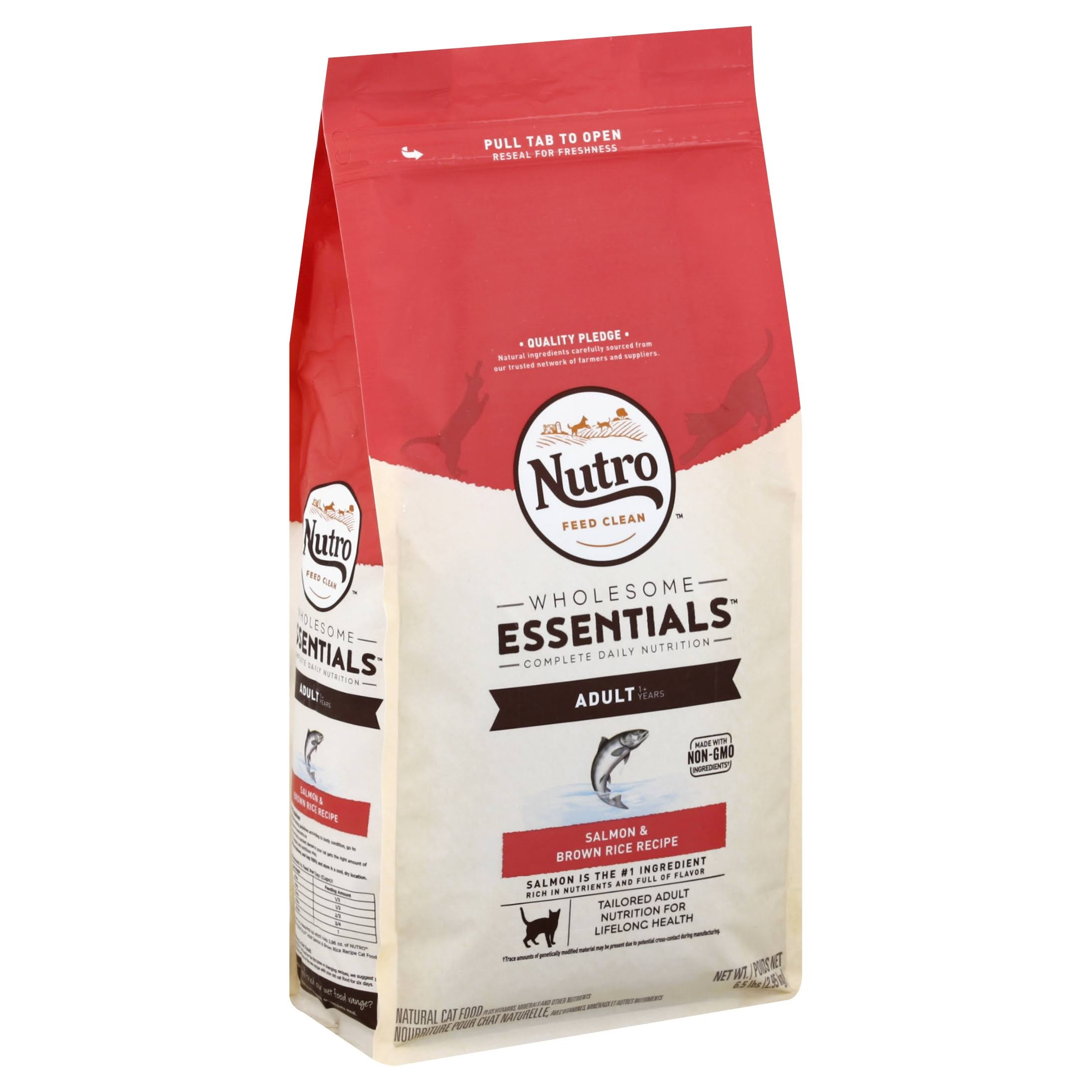 The Nutro Company Wholesome Essentials Adult Cat Food - Salmon and Whole Rice, 6.5lbs