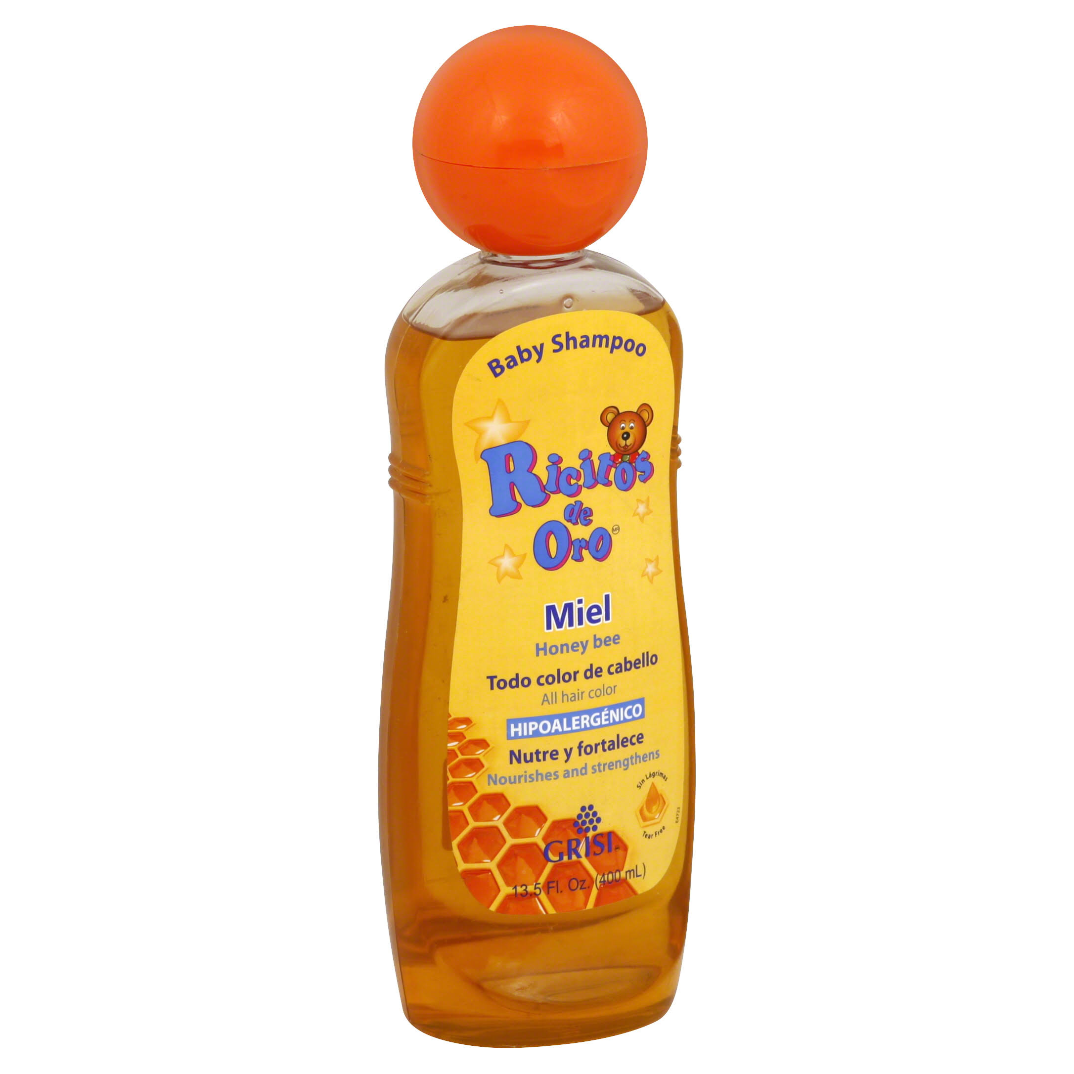 Ricitos De Oro Baby Shampoo - Hypoallergenic, Honey, 400ml