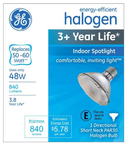 GE Lighting Halogen Light Bulb - 48W, 840 Lumens