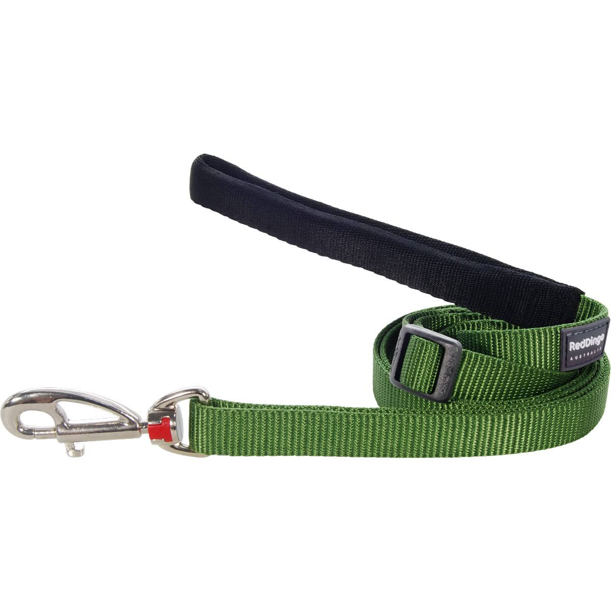 Red Dingo Dog Lead - Green, 100cm to 180cm, Medium