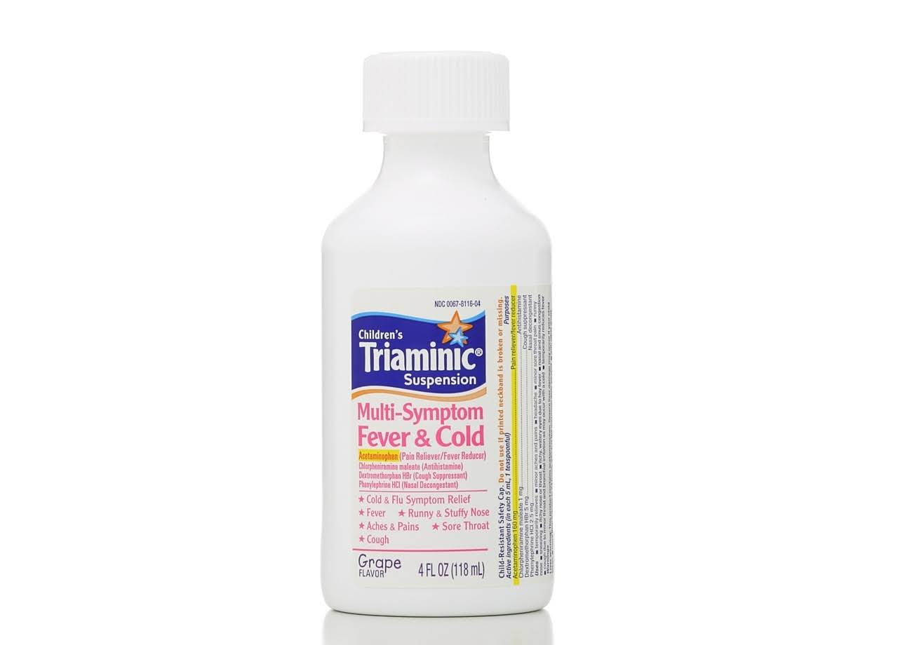 Triaminic Mutli Symptom Fever and Cold Suspension - Grape, 4oz