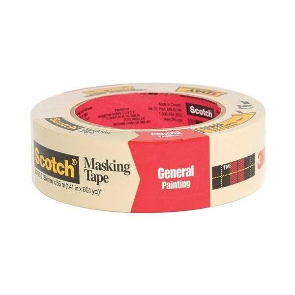 3M Scotch General Painting Masking - 36mm x 55m, 60 Yards