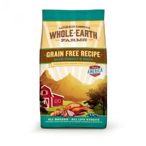 Whole Earth Farms Grain Free Recipe Dry Dog Food - Turkey and Duck, 4lbs