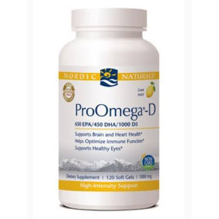 Nordic Naturals Proomega-d High Intensity Support - Lemon, 1000mg, 120ct