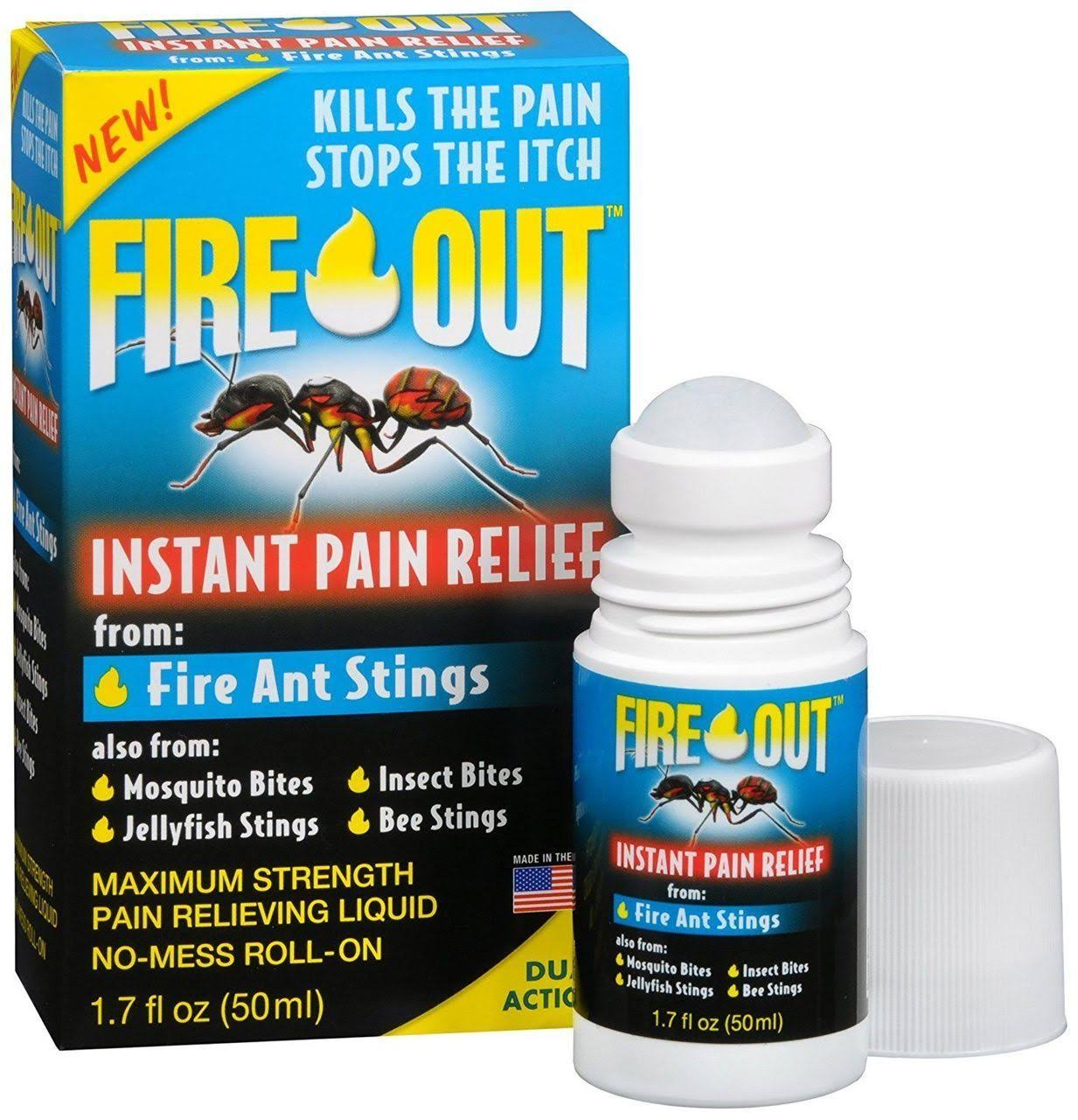 Fire Out Instant Pain Relief Roll On - 1.7oz