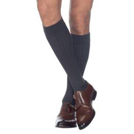 Sigvaris Men's Business Casual Business Casual Closed Toe Socks - Brown, Size C