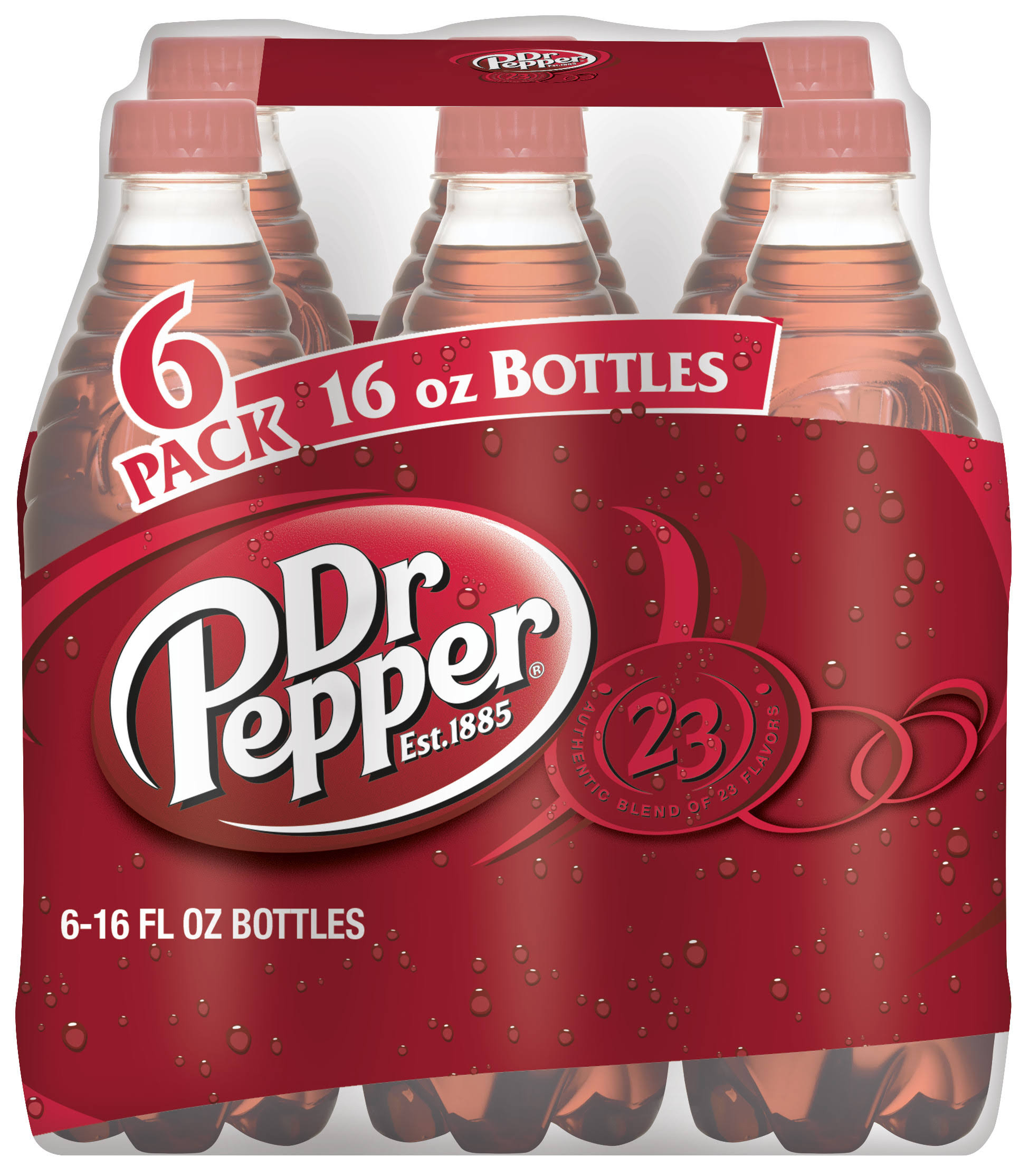 Dr Pepper Soda - 16oz, 6pk